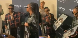 Wizkid And Tems Receive Platinum Plaque For 'Essence' In The US