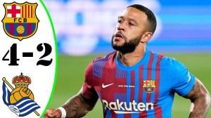 Barcelona vs Real Sociedad 4 - 2 (LaLiga 2021 Goals & Highlights)
