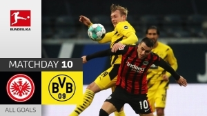 Frankfurt vs Dortmund 1 - 1 (Bundesliga Goals & Highlights)
