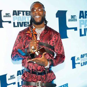 Burna Boy Bags Best International Act At the Prestigious BET Awards 2021