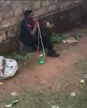 Police reacts as video of drunk officer smoking shisha goes viral