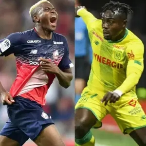 BREAKING NEWS: Victor Osimhen beats Moses Simon to win 2020 Marc-Vivien Foe prize for Best African Player in French Ligue 1