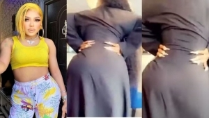Bobrisky Finally Shows Off His Backside After Butt Surgery (Video)