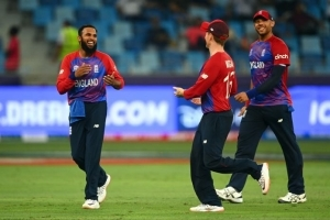 T20 World Cup 2021: Moeen Ali and Adil Rashid rip through West Indies as England get off to dream start