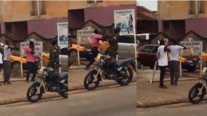 Drama As Man Slaps Soldier For Punishing Him For Defying Lockdown Order