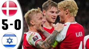 Denmark vs Israel 5 - 0 (2022 World Cup Qualifiers Goals & Highlights)