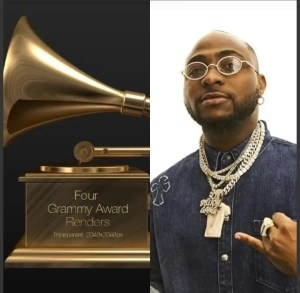 Grammy Awards Gives Accolades To Davido, Says He's Expanding Afrobeats Reach
