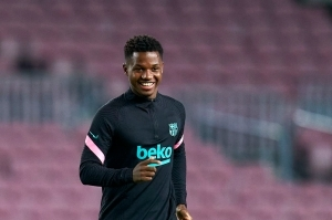 Barcelona Have Announced That Ansu Fati Is In Porto To Get His Knee Checked Out