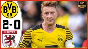 Giessen vs Borussia Dortmund 0 − 2 (Friendly 2021 Goals & Highlights)