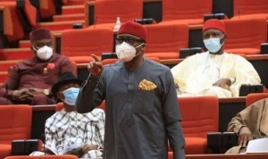 """You're An Ethnic Bigot"" Lagos Official Attacks Abaribe For Wearing 'Dot Nation' Shirt"