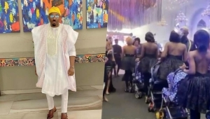 Socialite, Pretty Mike Storms Event With Convoy Of Baby Mamas (Video)