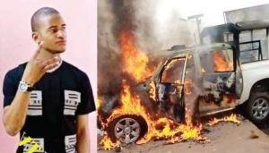 Horror As Protesters Burn Patrol Vans, Barracks After Drunken Policeman Killed Resident