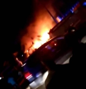 Horror! Huge Fire Breaks Out, Razes Vehicles Inside Lagos Airport Hotel (Photos)