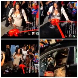 #BBNaija lockdown star, Dorathy, receives Benz car from her fans as her birthday present (video)