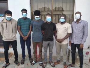 Six suspected internet fraudsters arrested in Enugu (photos)