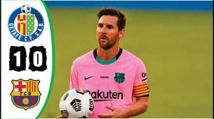 Getafe vs Barcelona 1 - 0 | LA Liga All Goals And Highlights (17-10-2020)