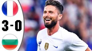 France vs Bulgaria 3 − 0 (Friendlies Goals & Highlights 2021)