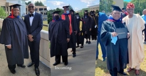 Davido's Uncle, Ademola Adeleke Bags Degree In Criminal Justice From US University (Video)