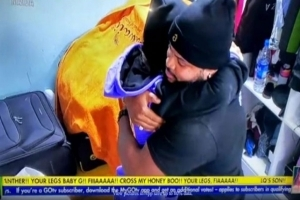 #BBNaija 2021: See What White Money Did After Maria Hugged Him While She Cried For Nominating Him (Video)