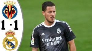 Villarreal vs Real Madrid 1 - 1 (LA Liga Goals & Highlights)