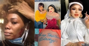 """Wicked Manipulator"" – Ivorian Lady That Tattooed Bobrisky Calls Him Out For Beating Her Up (Video)"
