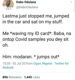 Man reveals what he told a LASTMA official that made him jump out of his car when he stopped him