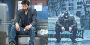 Keanu Reeves Recreated The Sad Keanu Meme For His Comic