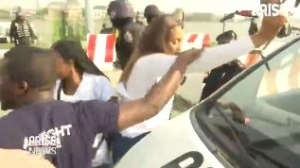 Arise TV Crew Covering The #EndSARS Protest Memorial Harassed By Police Officials Who Also Tried To Seize Their Drone (Video)
