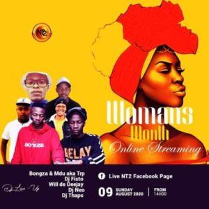 Bongza & MDU aka TRP – Women's Month Live Mix 2020