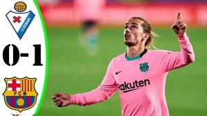 Eibar vs Barcelona 0 − 1 (LaLiga Goals & Highlights 2021)