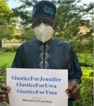 Tinubu Joins The Campaign For Justice For Uwa, Tina And Jennifer