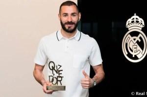 Karim Benzema wins the Onze d'Or