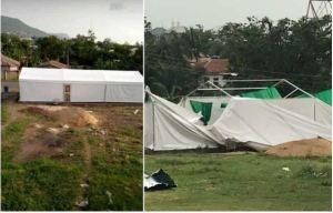 Photos Of Kogi COVID-19 Isolation Center Destroyed By Rain In Lokoja