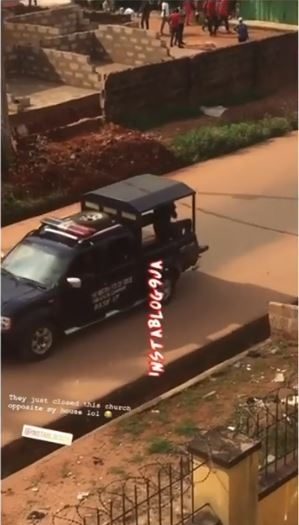 See The Moment A Pastor Was Whisked Away By Police For Holding Sunday Service In Benin (Video)