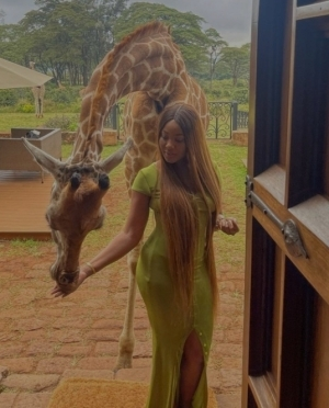 """""""I Intend To Remain A Pampered Babygirl For Life"""" – Erica Shares Lovely Photos And Video From Her Vacation In Kenya"""