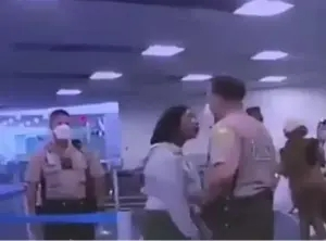 White Maimi police officer relieved from duty for punching a black woman at Miami Airport (video)
