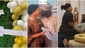 """""""You Are The Best Husband And Best Daddy"""" – Tonto Dikeh Gifts Her New Lover An Expensive Car Gift (Video)"""