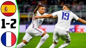 Spain vs France 1 - 2 (UEFA Nations League Final 2021 Goals & Highlights)