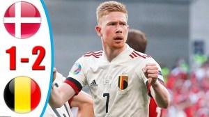 Denmark vs Belgium 1 − 2 (EURO 2020 Goals & Highlights)