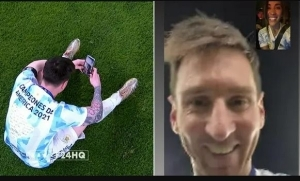 Messi Video Calls His Wife To Celebrate Argentina