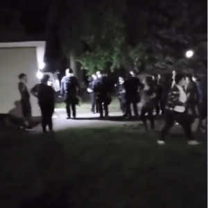 Protesters camp outside the home of the officer who knelt on George Floyd