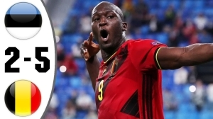 Estonia vs Belgium 2 - 5 (2022 World Cup Qualifiers Goals & Highlights)