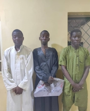 Three suspected kidnappers arrested in Kano for threatening to abduct man and family members if he fails to pay N2m