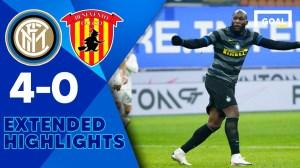 Inter Milan vs Benevento 4 - 0 (Serie A  Goals & Highlights 2021)