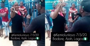 Kemi Olunloyo clashes with SARS operatives in Lagos (video)