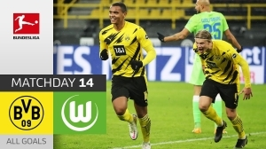 Borussia Dortmund vs Wolfsburg 2 - 0 (Bundesliga Goals & Highlights)