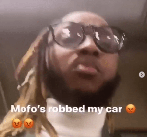Rapper Yung6ix rants onInstagram after being robbed in the US (video)