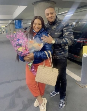 Actress Nkechi Blessing Sunday Jets To The UK To Be With Her Man Days After Burying Her Mother