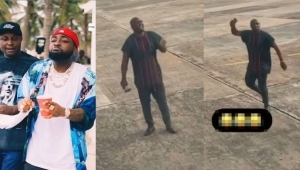 """""""My Oga Get Money"""" – Isreal DMW Screams At Airport While Ringing A Bell (Video)"""