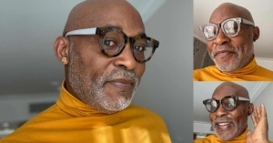 Actor, RMD Shows Off New Look In Black & Gold Stud Earrings As He Anticipates 60th Birthday